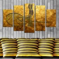 Casa De Arte 5 Parça Kanvas Tablo Tuğra