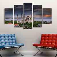 Casa De Arte 5 Parça Kanvas Tablo İstanbul Camii
