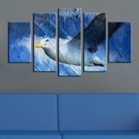 Casa De Arte 5 Parça Kanvas Tablo Mavi Martı
