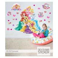 Artikel Prensesler Dev Duvar Sticker