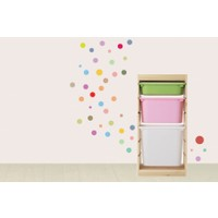 Dekorjinal Renkli Daireler Duvar Sticker Cst038