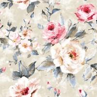 Mot Çiçekli Duvar Kağıdı 10-005301