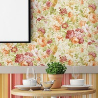 Mot Çiçekli Duvar Kağıdı 10-004301