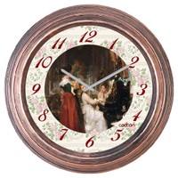 Cadran Dekoratif Vintage Duvar Saati Bakır Piyano 1108-80