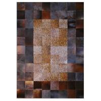 Tappeto E x clusive Deri Patchwork Kahve Leopar Halı - 120 x 180 cm