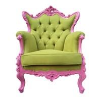 3A Mobilya Pink-Green Retro Koltuk