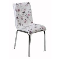 Kristal Masa P-01 Monopetli Lila Dallı Sandalye