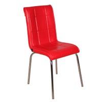 Kristal Masa P-14 Monopetli Düz Kırmızı Sandalye