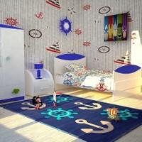 Poypoy Poypoy Çapa Dümen Çocuk Halısı 150 x 230 cm