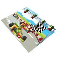 Jungle`S World Jungle`S World 75 Yarışcı Formula Çocuk Halısı 100 x 140 cm