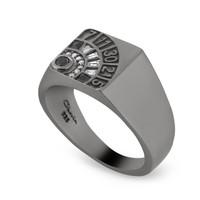 Chavin Siyah Rodyum Rulet Masası Gümüş Erkek Şans Yüzük dc01