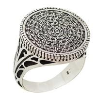 Chavin Esma-ül Hüsna Yazılımlı 925 Ayar Gümüş Erkek Yüzük ca73