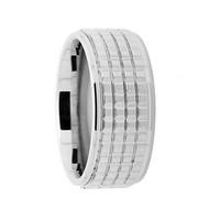 Chavin Lazer Kesim Unisex Çelik Yüzük bc74