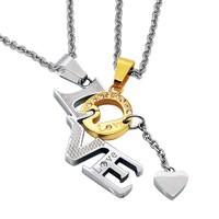 Chavin İkili Love Takım Çelik Kolye bc06