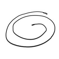 Chavin Traşlı 75 cm. Uzun Siyah 2 mm. Erkek Çelik Zincir df28