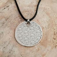 Chavin Çiçek Motifli Çelik Bayan Kolye 9au411