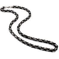 Chavin 5 mm. Kral Siyah-Gri Çelik Erkek Zincir as64