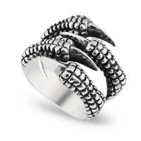 Chavin 4 Pençe Gümüş Erkek Yüzük cs56