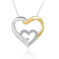 Chavin Kalp 0,02 Carat Pırlantalı Gümüş Kolye ce05