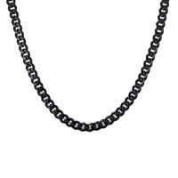 Chavin Traşlı 75 cm. Uzun Siyah 7 mm. Erkek Çelik Zincir de94