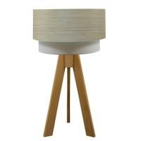 Crea Lighting Doubleshade Naturel Tripod Abajur Wood - Bambu