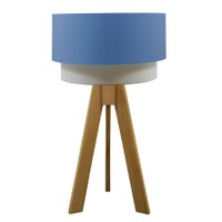 Crea Lighting Doubleshade Naturel Tripod Abajur Cotton - Mavi