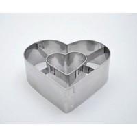 Donut Kurabiye Kalıbı Kalp Modeli