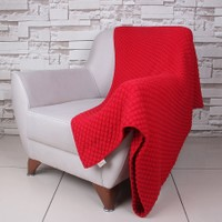 Betires Home Örgü Koltuk Şalı - Kırmızı - 130x170 cm