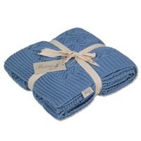 Betires Home Örgü Koltuk Şalı Tp12014 Mavi