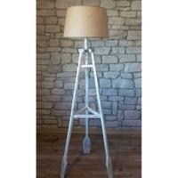 Ağaç Ustası Remi 3 Ayaklı Lambader Beyaz Renk Ayak | Bej