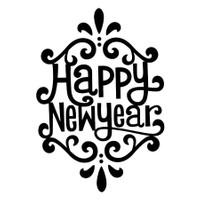 Özgül Grup Yılbaşı Dekoratif Duvar Sticker Happy New Year | 34x46 cm