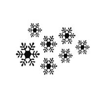 Özgül Grup Yılbaşı Dekoratif Duvar Sticker Kar Tanesi | 34x49 cm