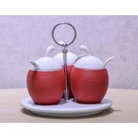 Vitale Mutfak Kırmızı Masa Baharatlık