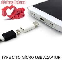 Oneplus 3 Type C To Micro Usb Dönüştürücü Mini Adaptör + 3d Araç Kokusu