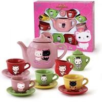 Vardem Renkli 13 Parça Oyuncak Porselen Çay Seti