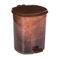 Modelsa 20 Lt Plastik Çöp Kovası Kahverengi Deri Görünümlü