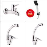 Alper Banyo Delta Banyo Mutfak Batarya Seti - Duş Seti Hediyeli
