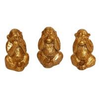 Atadan Görme-Duyma-Konuşma 3 Maymun Biblo-Altın