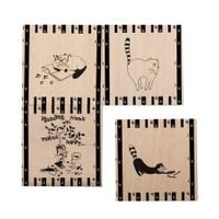 Cats By Luyano Bardak Altılığı 4 Lü Set Happy Cats-2