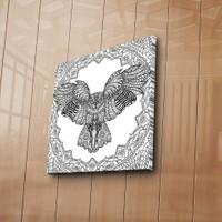 Özgül Grup Baykuş Boyama Tablosu 12 'Li Keçeli Kalem Hediye -59