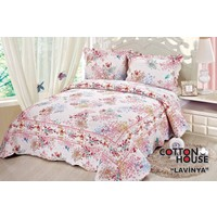 Cotton House Pamuklu Çift Kişlik Yatak Örtüsü - Lavinya