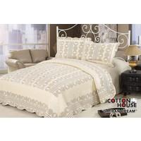 Cotton House Nubuk Çift Kişlik Yatak Örtüsü - Safran Cream