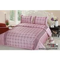 Cotton House Saten Pullu Çift Kişlik Yatak Örtüsü - Anca Light Pink