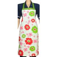 Aliz Mutfak Önlüğü-Kırmızı Çiçekler