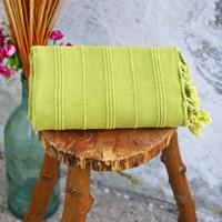 İkikız Vintage Taşlanmış Peştamal Yeşil