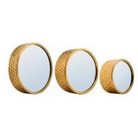 Evlina Home 3-D Metal Yuvarlak Duvar Aynası