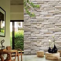 Bien Wallcoverings G.Stone Beyaz Taş Desenli İthal Duvar Kağıdı 16.5 m² Kaplar