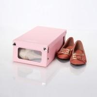 Deepot Bayan Ayakkabı Kutusu Köşeleri Metal Korumalıpvc Pencereli 8 Çıtçıtlı