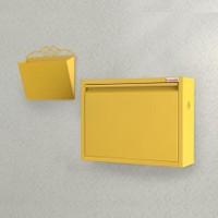 Pappuchbox Metal Ayakkabılık Sarı