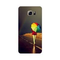 Bordo Samsung Galaxy S6 Edge Kapak Kılıf Baskılı Silikon